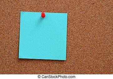 goupillé, notes, corkboard, vide
