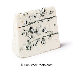 blue cheese - gourmet blue cheese on white background
