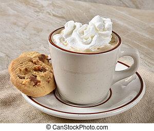 gourmet, chaud, biscuits, chocolat