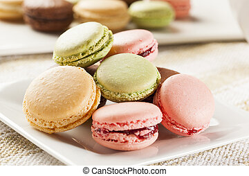 Gourmet Colored Macaroon Cookies with a cream filling