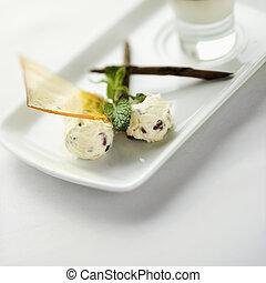 Gourmet dessert. - Still life of gourmet dessert with...