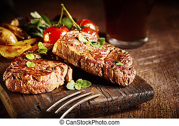 gourmet, filet, médaillons, tendre, boeuf, rôti