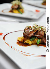 Gourmet food - Delicious Lamb roast served at a function
