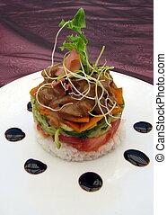 Gourmet Food Stacker - Gourmet Chicken and salad Food ...