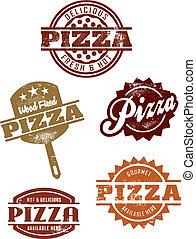 gourmet, grpahics, pizza