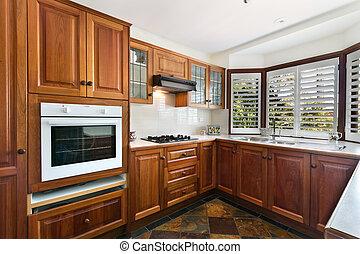 gourmet, interior, modernos, cozinha