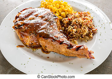 grilled pork chop - Gourmet Main Entree Course grilled pork...