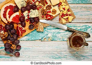 Gourmet noon meal in european style - Light snack in ...