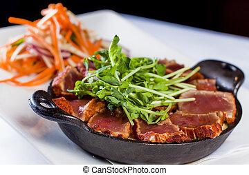 Gourmet Restaurant Seared Tuna Plate