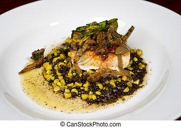 Gourmet Sea Bass - Image of a beautifully prepared gourmet ...
