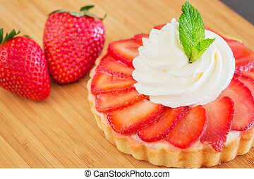 Strawberry Cream Tart - Gourmet Strawberry Cream Tart Pastry