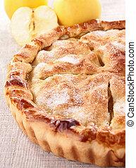 gourmet, torta maçã