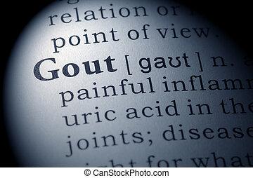 gout, diccionario, definición
