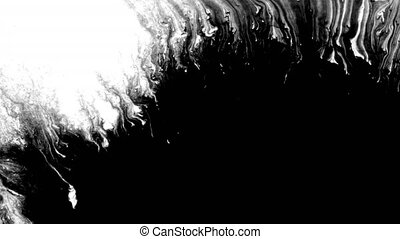 goutte, arrière-plan noir, encre, conception, blanc