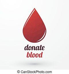 goutte, donner, rouges, sanguine