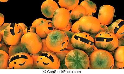 goutte, halloween, citrouille