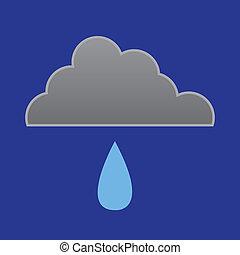 goutte pluie, nuage