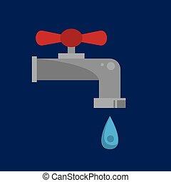 gouttelette eau, robinet