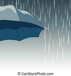 gouttes, parapluie, pluie
