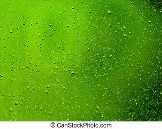 gouttes, vert