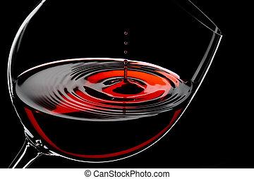 gouttes, vin