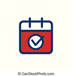 gouvernement, &, patriotique, couleurs, 2020, symbolisme, vote, vote, icône
