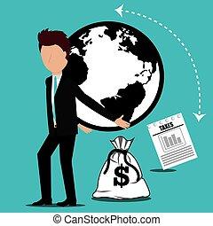 goverment, paiement, impôts