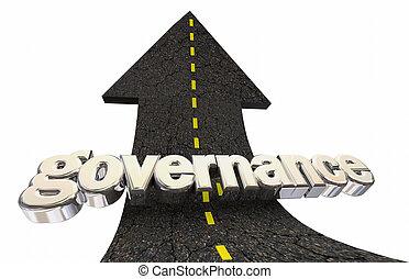Governance Accountability Oversight Arrow Word 3d ...