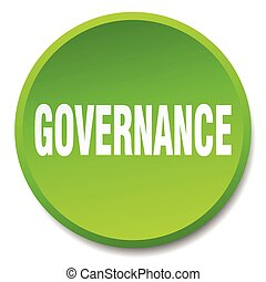 governance green round flat isolated push button