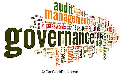 governance, i, spełnienie, w, słowo, skuwka, chmura
