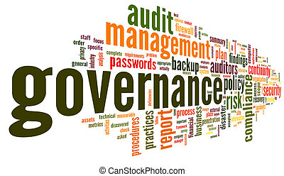 governance, og, medgørlighed, ind, glose, etiketten, sky