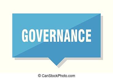 governance price tag - governance blue square price tag