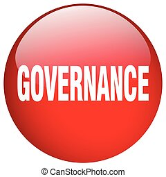 governance red round gel isolated push button