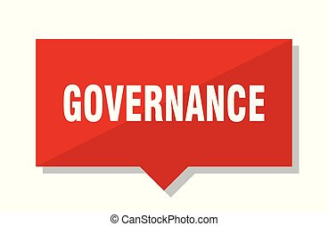 governance red tag - governance red square price tag