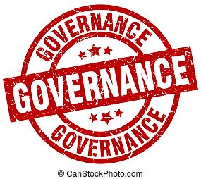governance round red grunge stamp