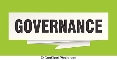 governance sign. governance paper origami speech bubble....