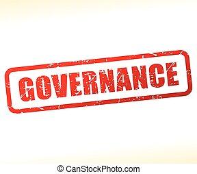 governance text stamp - Illustration of governance text...