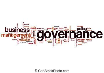 Governance word cloud concept