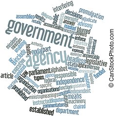Government agency - Abstract word cloud for Government...