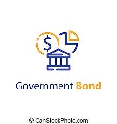 Government bond concept, financial supply, bank savings account