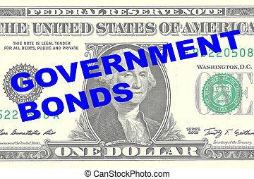Government Bonds concept - Render illustration of...
