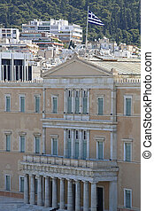 Government Building Hellenic Parliament in Athens Greece