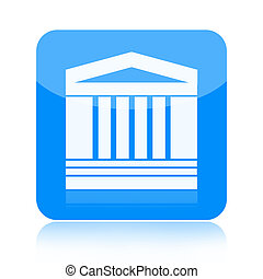 Government building icon isolated on white background