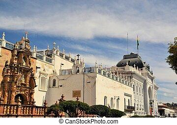 Government building of capital city Sucre, Bolivia