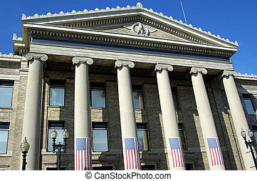 Government Building - An american government office building...