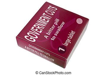 Government cuts concept