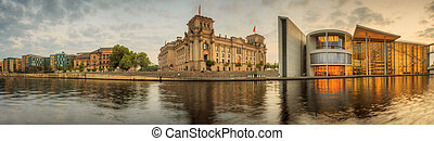Government district in Berlin - View of government district...