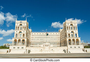 Government House on bright summer day in Baku, Azerbaijan