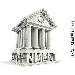 Government Icon. Government 3d building icon. 3d...