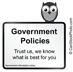 Government Policies - Monochrome comical Government policies...